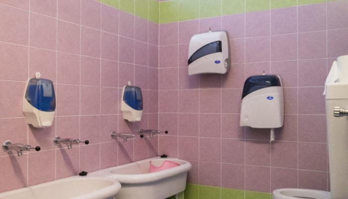 La sala igienica dei grandi e dei medi